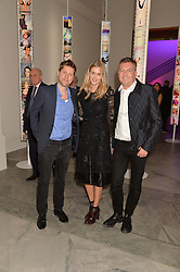 Left to right, CHRISTOPHER BAILEY, DONNA AIR and MARKUS LUPFER at the Alexandra Shulman and Leon Max hosted opening of Vogue 100: A Century of Style at The National Portrait Gallery, London on 9th February 2016.
