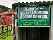 "Whangamomona village border Control, on the Stratford to Taumarunui ""Forgotten World Highway"", North Island, New Zealand"