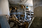 The back room of the severely damaged Shizugawa post office is littered with debris in Minami Sanriku, Miyagi Prefecture, Japan on Tuesday 24 May 2011. Although located some distance away, Minami Sanriku postal services are under the jurisdiction of the Ishinomaki offices..Photographer: Robert Gilhooly