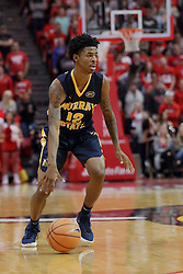 "09 December 2017:  Temetrius ""Ja"" Morant during a College mens basketball game between the Murray State Racers and Illinois State Redbirds in  Redbird Arena, Normal IL"
