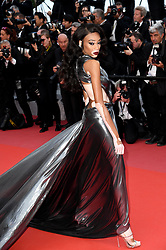 Winnie Harlow attending the Solo: A Star Wars Story premiere at the 71st Cannes Film Festival