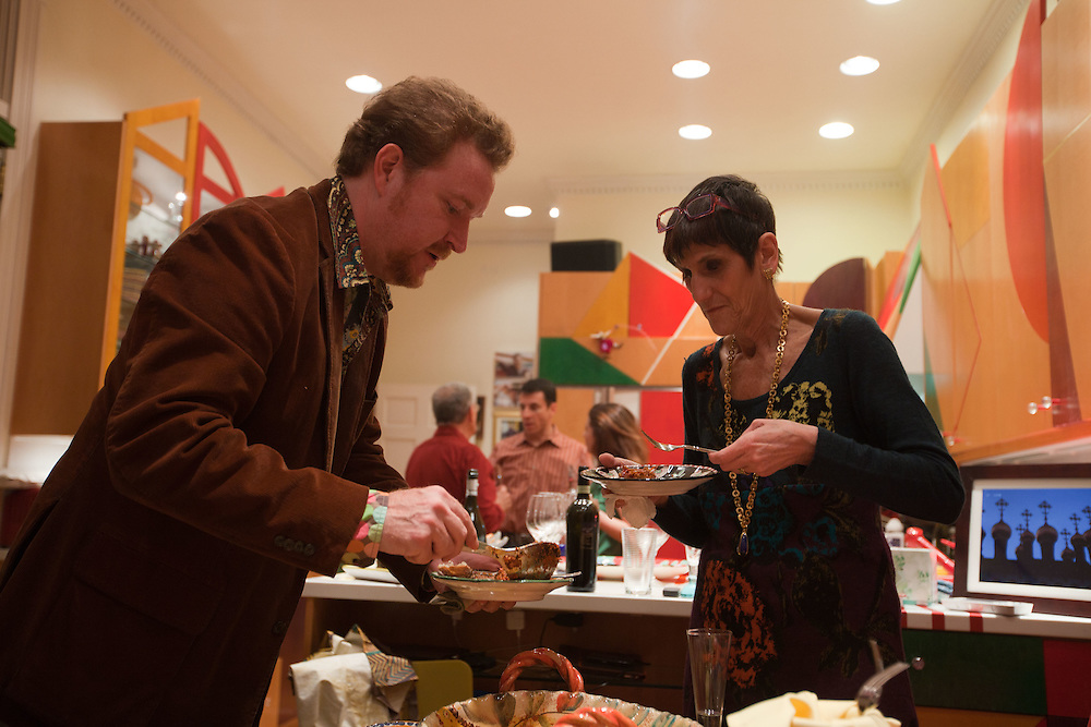 Rep. Rosa DeLauro (D-CT) cooks dinner at her home on Saturday, April 9, 2011 in Washington. (Photo by Jay Westcott/Politico)