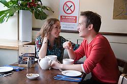 Friends in a café,