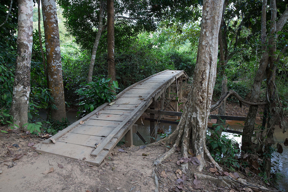 Welcome bridge to camp
