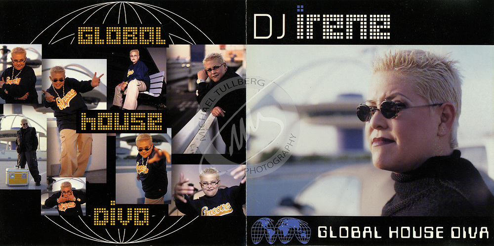 "Cover for DJ Irene's ""Global House DJ"" album. We shot this from the top of one of the parking structures at the LAX airport, which is why you can see the Encounter restaurant in the background."