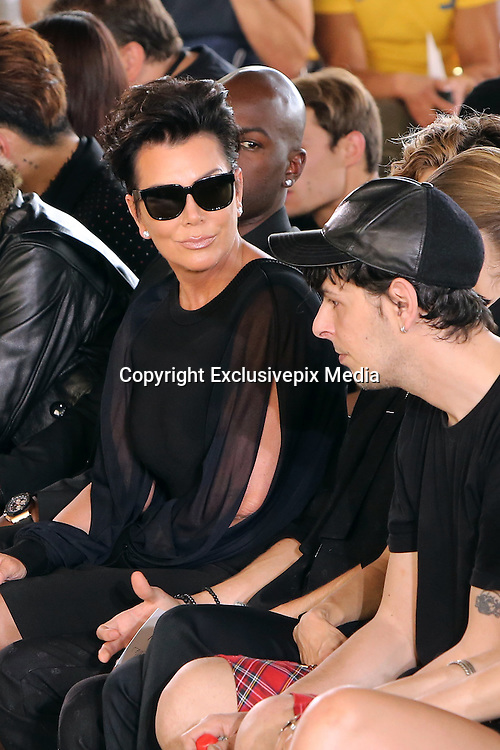 KRIS JENNER   - CELEBRITIES IN FRONT ROW AT THE PARADE GIVENCHY MEN SPRING / SUMMER 2016 -<br /> &copy;Exclusivepix Media