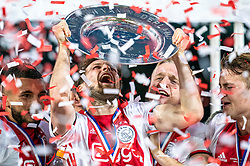 15-05-2019 NED: De Graafschap - Ajax, Doetinchem<br /> Round 34 / It wasn't really exciting anymore, but after the match against De Graafschap (1-4) it is official: Ajax is champion of the Netherlands / Daley Blind #17 of Ajax, Donny van de Beek #6 of Ajax, Matthijs de Ligt #4 of Ajax