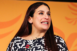© Licensed to London News Pictures. 05/11/2019. London, UK. Liberal Democrats MP for Liverpool Wavertree LUCIANA BERGER  speaks during thelaunch of Liberal Democrat general election campaign in Westminster.A general election will be held on 12 December 2019.Photo credit: Dinendra Haria/LNP