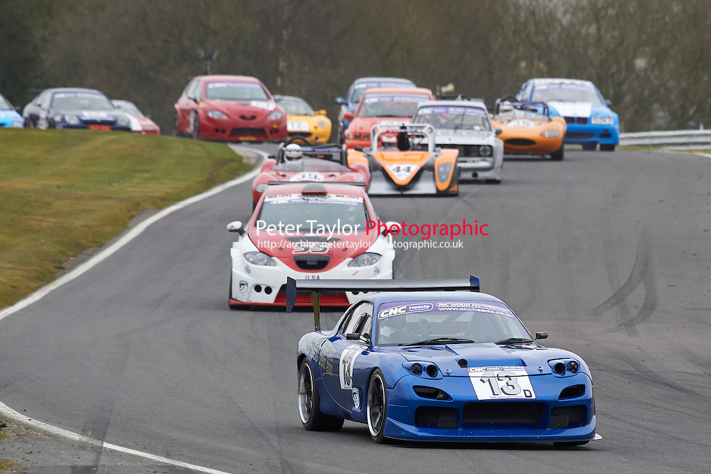 #13 Paul DOBSON Mazda RX7 2600 during CNC Heads Sports / Saloon Championship as part of the BARC NW - Championship Raceday  at Oulton Park, Little Budworth, Cheshire, United Kingdom. March 19 2016. World Copyright Peter Taylor/PSP. Copy of publication required for printed pictures.  Every used picture is fee-liable. http://archive.petertaylor-photographic.co.uk