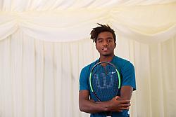 LIVERPOOL, ENGLAND - Saturday, June 23, 2018: Elias Ymer (SWE) during day three of the Williams BMW Liverpool International Tennis Tournament 2018 at Aigburth Cricket Club. (Pic by Paul Greenwood/Propaganda)