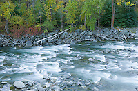 The Wenatchee River in fall Tumwater Canyon Cascades Range Washington USA&amp;#xA;<br />
