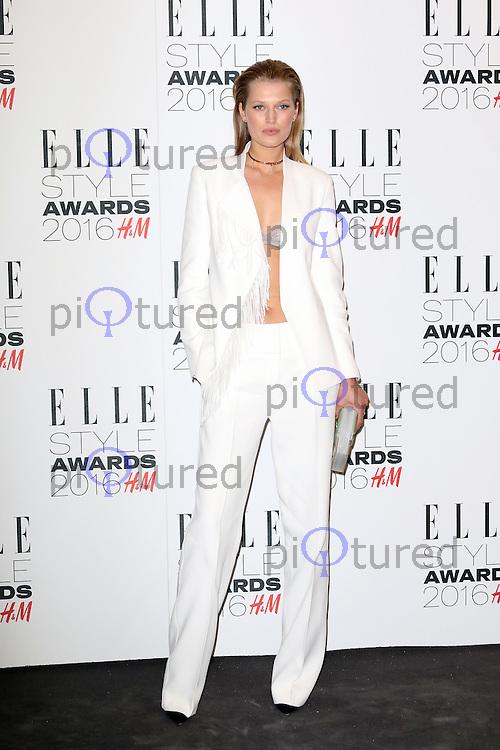 Toni Garrn, ELLE Style Awards 2016, Millbank London UK, 23 February 2016, Photo by Richard Goldschmidt