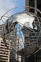 globe outside trump towers in New York City in October 2008