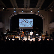 December 16, 2011 - Brooklyn, NY : Wadada Leo Smith's Golden Sextet performs during a concert in celebration of Leo's 70th birthday at Roulette in Brooklyn on Friday night. CREDIT: Karsten Moran for The New York Times