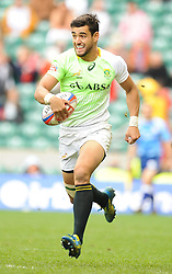 Chris Dry of South Africa during the Plate final match between South Africa and Kenya at the Marriott London Sevens rugby tournament being held at Twickenham Rugby Stadium in London as part of the HSBC Sevens World Series,  Sunday, 11th May 2014. Picture by Roger Sedres / i-Images