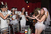 SARA AGOSTINI, JUGGLING ORANGES; BRIDE, HEN NIGHT, LOST HEARTS , A VALENTINE'S MASQUERADE BALL 2016 at the Coronet Theatre,  Elephant and Castle, London. 12th February 2016