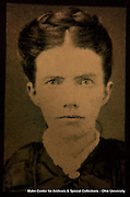 photo of Margaret Boyd, ca 1873, the first woman at Ohio University, ownership and provenance unknown. Image from CDs of images files scanned by OU press for Ohio University The Spirit of a Singular Place 1804-2004, Betty Hollow, and given to University Archives.