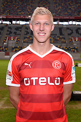 02.07.2015, Esprit Arena, Duesseldorf, GER, 2. FBL, Fortuna Duesseldorf, Fototermin, im Bild Julian Koch ( Fortuna Duesseldorf / Portrait ) // during the official Team and Portrait Photoshoot of German 2nd Bundesliga Club Fortuna Duesseldorf at the Esprit Arena in Duesseldorf, Germany on 2015/07/02. EXPA Pictures &copy; 2015, PhotoCredit: EXPA/ Eibner-Pressefoto/ Thienel<br /> <br /> *****ATTENTION - OUT of GER*****