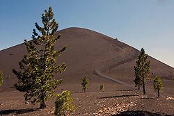 Hiking trail up Cinder Cone, Lassen Volcanic National Park, California, United States of America