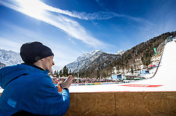 Peter Prevc (SLO) clapping to Timi Zajc during the Trial Round of the Ski Flying Hill Individual Competition at Day 1 of FIS Ski Jumping World Cup Final 2019, on March 21, 2019 in Planica, Slovenia. Photo by Vid Ponikvar / Sportida