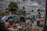 Traffic jam on the road to Awasa from Shashemene.  Ethiopia.