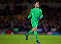 WOLVERHAMPTON, ENGLAND - Monday, January 7, 2019: Liverpool's goalkeeper Simon Mignolet comes up for a corner-kick in injury time with his side lose 2-1 during the FA Cup 3rd Round match between Wolverhampton Wanderers FC and Liverpool FC at Molineux Stadium. (Pic by David Rawcliffe/Propaganda)