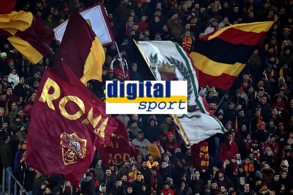 Tifosi Roma supporters <br /> Roma 05-12-2017 Stadio Olimpico Uefa Champions League A 2017/2018 Group C AS Roma - Qarabag Foto Andrea Staccioli / Insidefoto