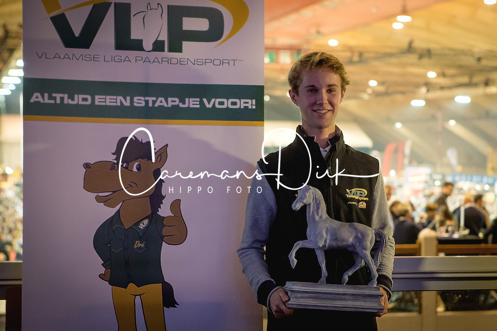 Thomas Gilles, BEL<br /> VLP Talent van het jaar<br /> Vlaanderens Kerstjumping Memorial Eric Wauters - Juming Mechelen 2016<br /> &copy; Dirk Caremans<br /> 26/12/2016er