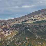 Views of Tuckerman Ravine and the summit of Mount Washington. From Wildcat Mountain.