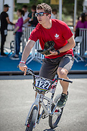 Men Elite #122 (TOUGAS Alex) CAN arriving on race day at the 2018 UCI BMX World Championships in Baku, Azerbaijan.