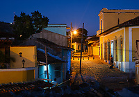 TRINIDAD, CUBA - CIRCA JANUARY 2020: Streets of Trinidad at night