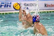 © Filippo Alfero<br /> Italia-Croazia, Pallanuoto, World League 2015<br /> Torino, 20/01/2015<br /> sport pallanuoto<br /> Nella foto: Pietro Figlioli