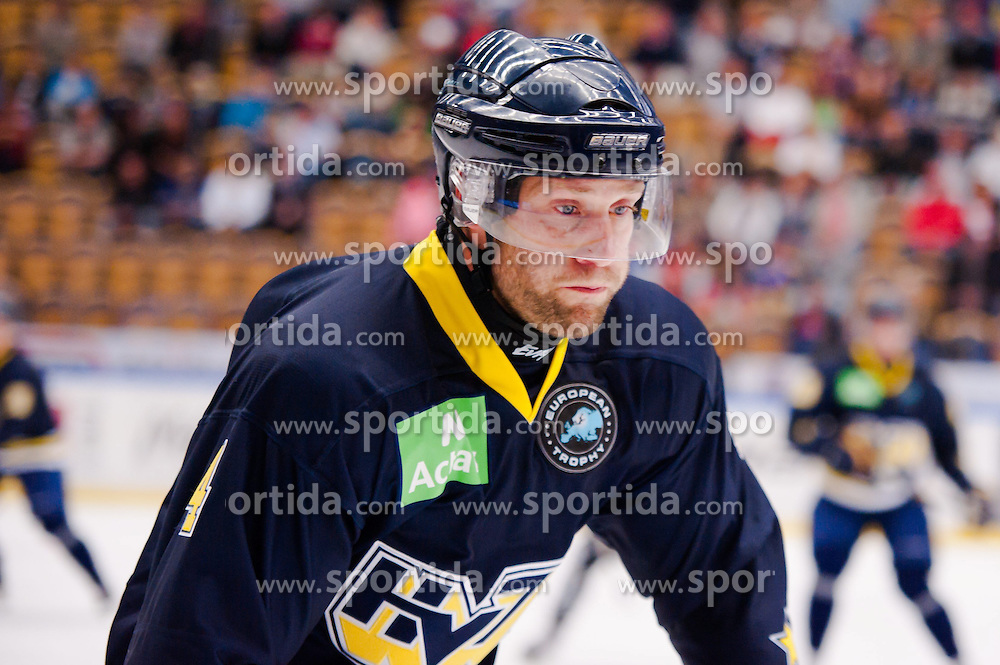 15.08.2013, Kinnnarps Arena, J&ouml;nk&ouml;ping, SWE, European Trophy, Hv71 vs Kalpa, im Bild HV71 4 Marcus Nilson // during the European Trophy Icehockey match betweeen Hv71 and Kalpa at the Kinnnarps Arena in J&ouml;nk&ouml;ping, Sweden on 2013/08/15. EXPA Pictures &copy; 2013, PhotoCredit: EXPA/ PicAgency Skycam/ Andreas Florin<br /> <br /> ***** ATTENTION - OUT OF SWE *****
