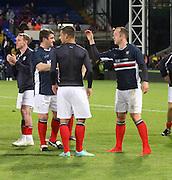 Giorgi Nemsadze and Charlie Adam after the match - Crystal Palace v Dundee - Julian Speroni testimonial match at Selhurst Park<br /> <br />  - © David Young - www.davidyoungphoto.co.uk - email: davidyoungphoto@gmail.com