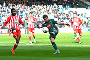 Graham Carey (10) of Plymouth Argyle shoots at goal during the EFL Sky Bet League 2 match between Plymouth Argyle and Accrington Stanley at Home Park, Plymouth, England on 1 April 2017. Photo by Graham Hunt.