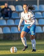 FODBOLD: Katja Mikkelsen (Herlufsholm GF) under kampen i Sjællandsserien mellem Ølstykke FC og Herlufsholm GF den 9. april 2019 på Ølstykke Stadion. Foto: Claus Birch