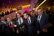 The President of France, Emmanuel Jean-Michel Frédéric Macron, draws a huge crowd at the World Economic Forum in Davos.
