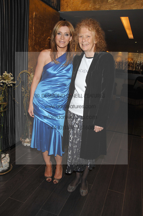 Left to right, actress MICHELLE COLLINS and MARY WARD co-founder and Artistic Director of Chickenshed at a lunch in aid of Chickenshed showcasing Ben de Lisi's Spring Summer and Autumn 2007 Collections held at the Baglioni Hotel, 60 Hyde Park gate, London SW7 on 24th April 2007.<br />