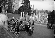 The funerals of the Irish soldiers killed in the Niemba ambush while on UN duty in the Congo. On 8 November  an 11-man Irish platoon on patrol in Niemba were ambushed by Baluba tribesmen. Nine were killed:  Lieut. Kevin Gleeson, Sgt. H Gaynor, Cpl P Kelly, Cpl L Dougan, Pte M Farrell, Tpr T Fennel, Tpr. Anthony Browne, Pte. M McGuinn and Pte. G Killeen. .19.11.1960
