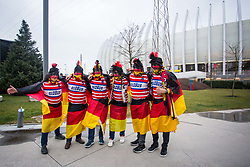 German fans before handball match between National teams of Germany and Montenegro on Day 2 in Preliminary Round of Men's EHF EURO 2018, on January 13, 2018 in Arena Zagreb, Zagreb, Croatia. Photo by Ziga Zupan / Sportida