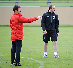 19.05.2010, Arena, Irdning, AUT, FIFA Worldcup Vorbereitung, Training England, im Bild Fabio Capello, Teamchef England, Wayne Rooney (Manchester United), EXPA Pictures © 2010, PhotoCredit: EXPA/ S. Zangrando / SPORTIDA PHOTO AGENCY