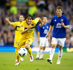LIVERPOOL, ENGLAND - Wednesday, August 4, 2010: Everton de Vina del Mar of Chile's Maurico Arias during a preseason friendly match at Goodison Park. (Pic by: David Rawcliffe/Propaganda)