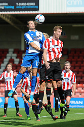 Billy Bodin of Bristol Rovers heads towards goal - Mandatory by-line: Dougie Allward/JMP - 25/07/2015 - SPORT - FOOTBALL - Cheltenham Town,England - Whaddon Road - Cheltenham Town v Bristol Rovers - Pre-Season Friendly