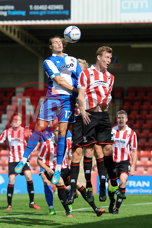 Billy Bodin of Bristol Rovers heads towards goal - Mandatory by-line: Dougie Allward/JMP - 25/07/2015 - SPORT - FOOTBALL - Cheltenham Town,England - Whaddon Road - Cheltenham Town v Bristol Rovers - Pre-Season Friendly