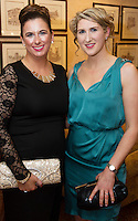 repro free: Geraldine Kelly AECOM and Mary Nolan AECOM  at the SCSI, Society of Chartered Surveyors of Ireland West branch Annual Dinner 2017 at the Ardilaun Hotel, Galway. Photo:Andrew Downes.