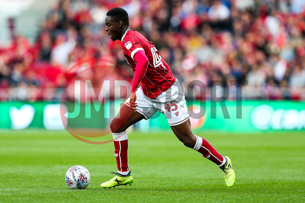 Jonathan Leko of Bristol City in action - Rogan/JMP - 16/09/2017 - Ashton Gate Stadium - Bristol, England - Bristol City v Derby County - Sky Bet Championship.