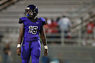 Malik Shellie of the Lincoln Tigers looks on against the Carter Cowboys during a high school football game at Forester Stadium in Dallas, Texas on September 18, 2015. (Cooper Neill/Special Contributor)