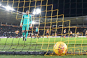 Hull City goalkeeper Allan McGregor (1) after Bristol City midfielder Josh Brownhill (8) scores goal to go 2-3 during the EFL Sky Bet Championship match between Hull City and Bristol City at the KCOM Stadium, Kingston upon Hull, England on 25 November 2017. Photo by Ian Lyall.