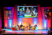 Julian Speroni, James Scowcroft and Paddy McCarthy discuss past seasons duringThe gloves are off. An Evening With Julian Speroni at  at Fairfields Hall, Croydon, United Kingdom on 20 January 2015. Photo by Michael Hulf.