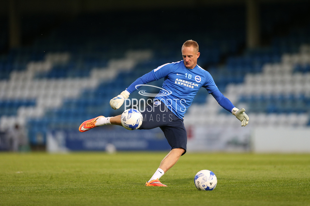 Casper Ankergren during the Pre-Season Friendly match between Gillingham and Brighton and Hove Albion at the MEMS Priestfield Stadium, Gillingham, England on 29 July 2015.